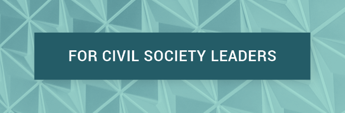 For Civil Society Leaders