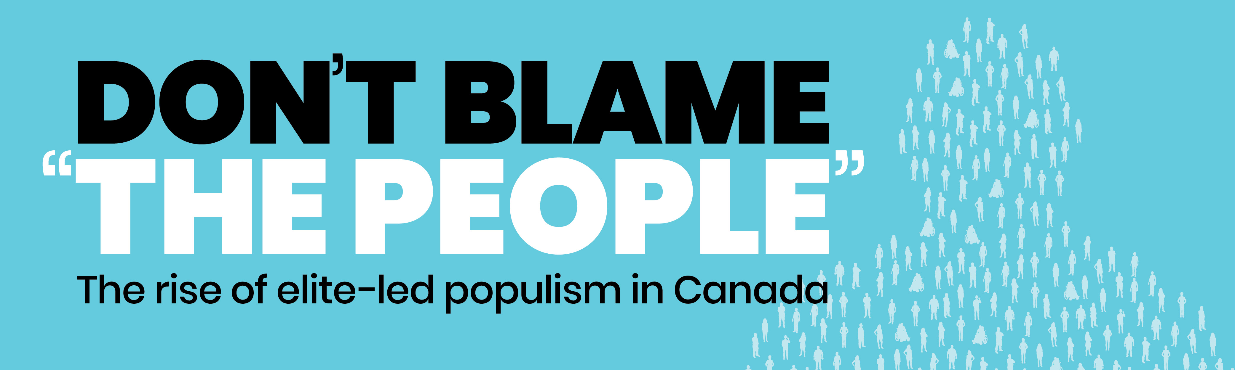"Don't Blame ""The People"""